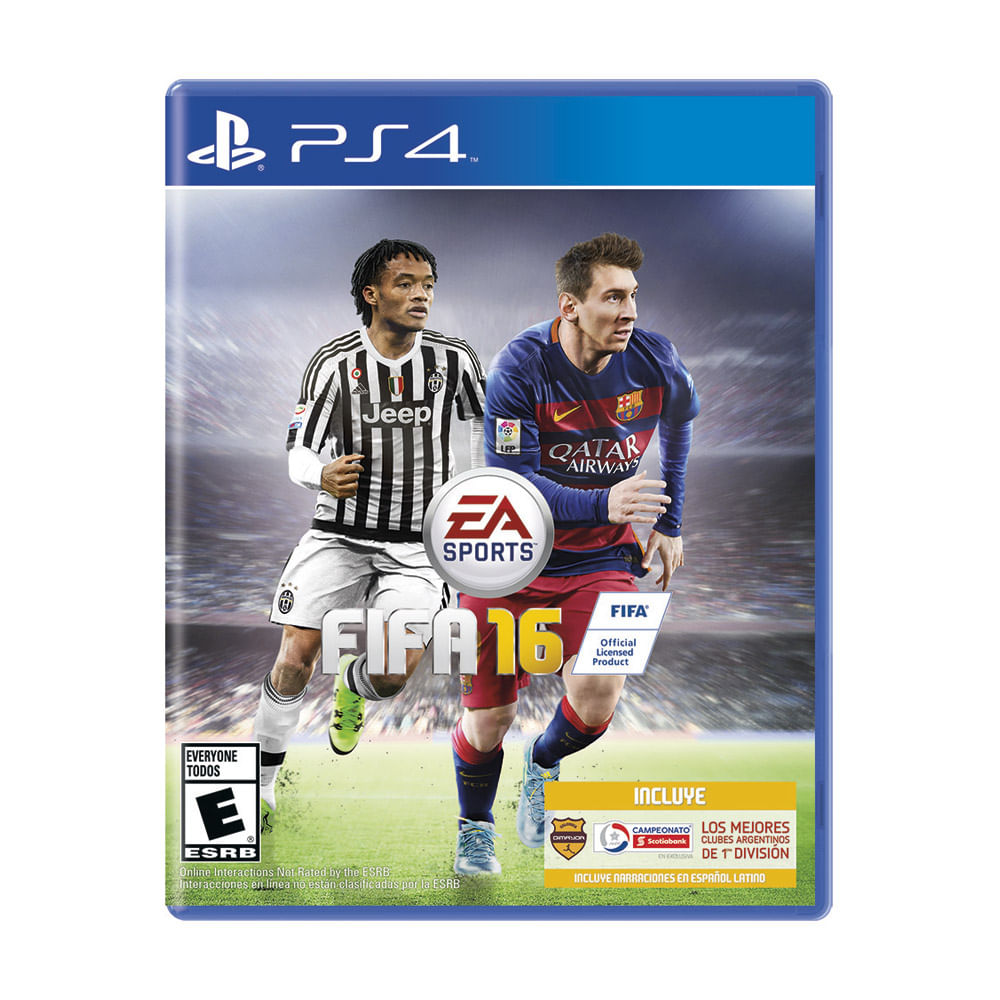 ps4 fifa 16 ea sports sony store argentina sony store. Black Bedroom Furniture Sets. Home Design Ideas